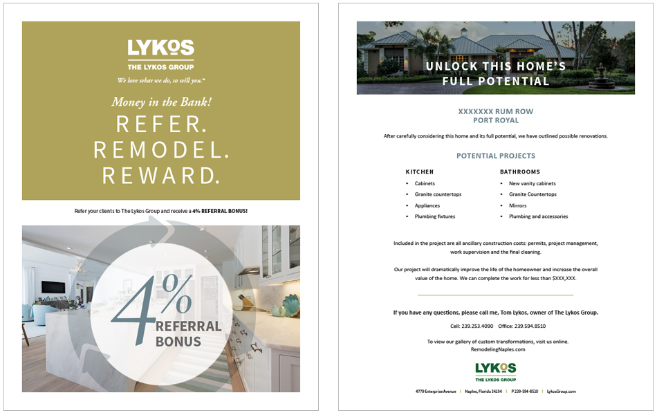 Lykos Group – Print Design – Wilson Creative Group