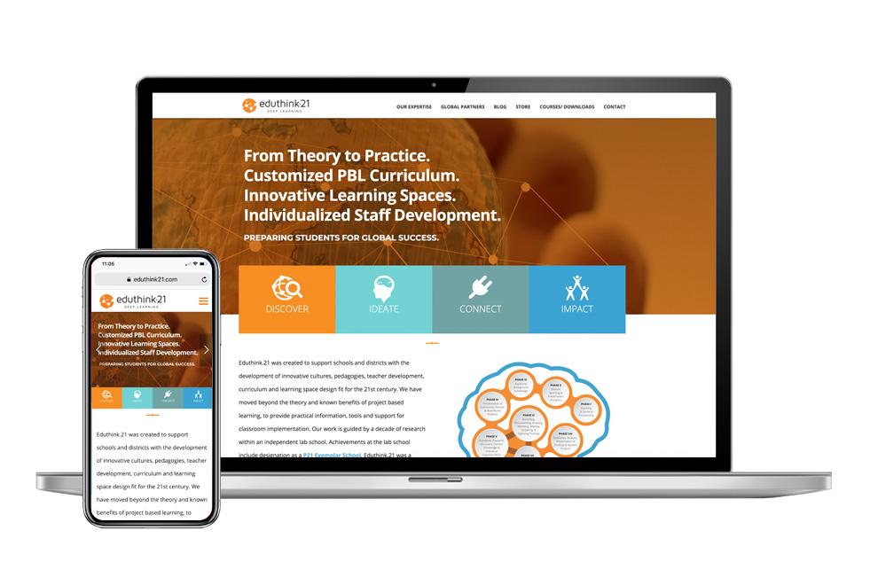 Eduthink21 Website design