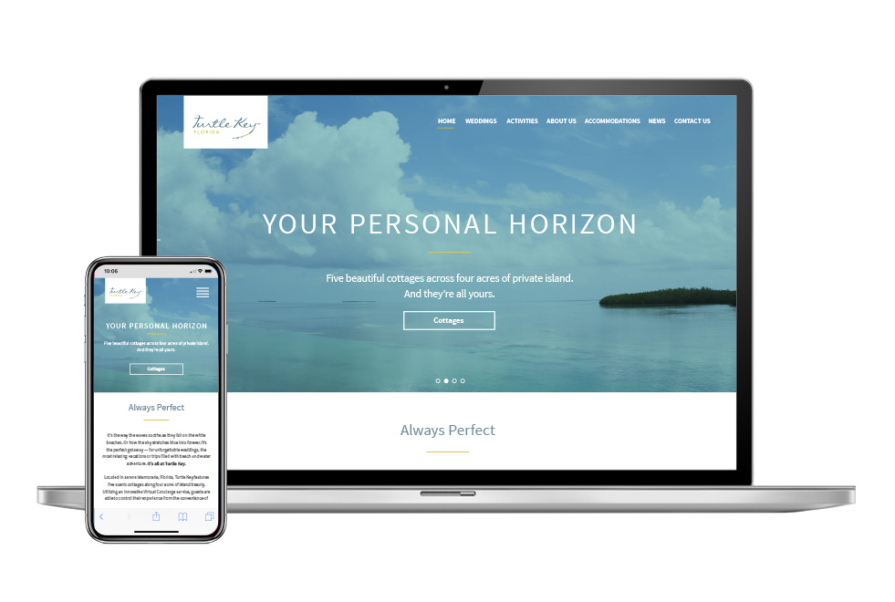 Turtle Key Website design