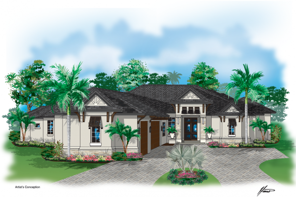 Harwick Homes - Woodall Construction on New Estate in Bonita Bay