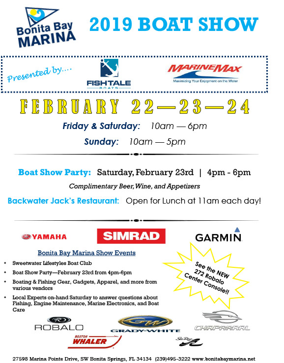 2019 Boat Show at Bonita Bay Marina