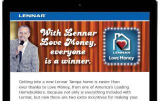 Lennar Tampa - Email Blast Design - Naples, Florida