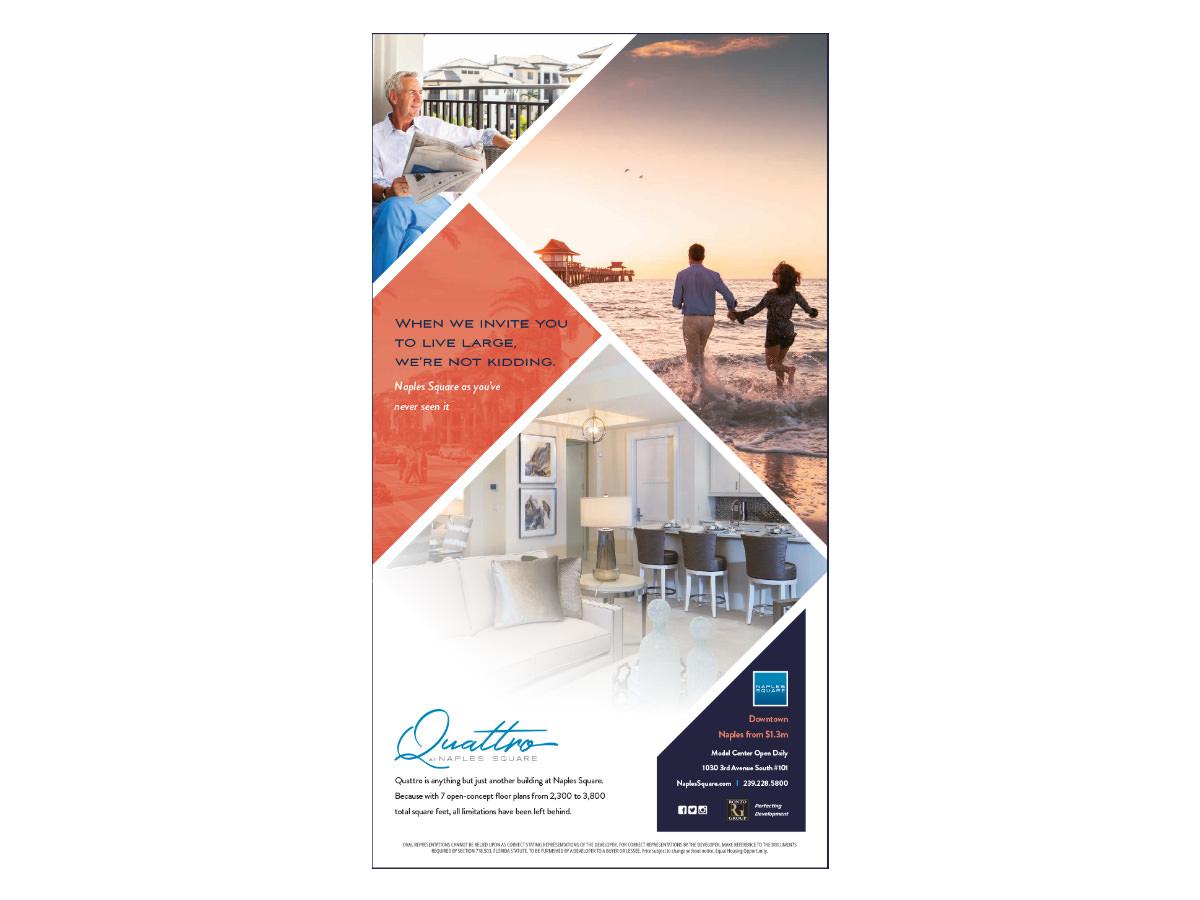 Naples Square Quattro Advertising Campaign Design - Naples, Florida