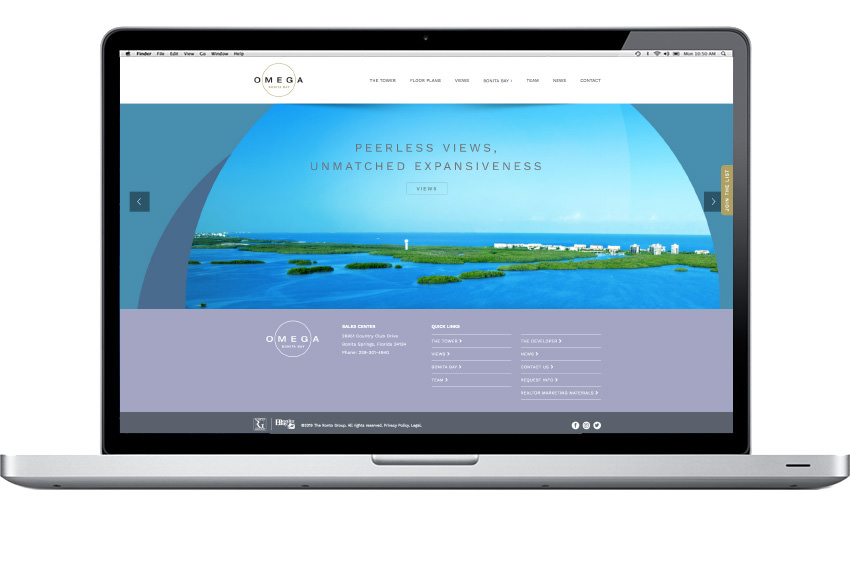 Omega Bonita Bay - Website Slider Design - Naples, Florida