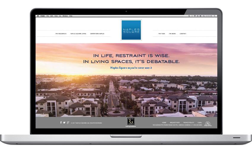 Naples Square Quattro - Website Slider Design - Naples, Florida