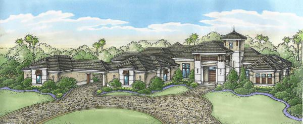 Diamond Custom Homes' Sandy Lane model estate home which was sold prior to groundbreaking in Quail West Golf and Country Club.