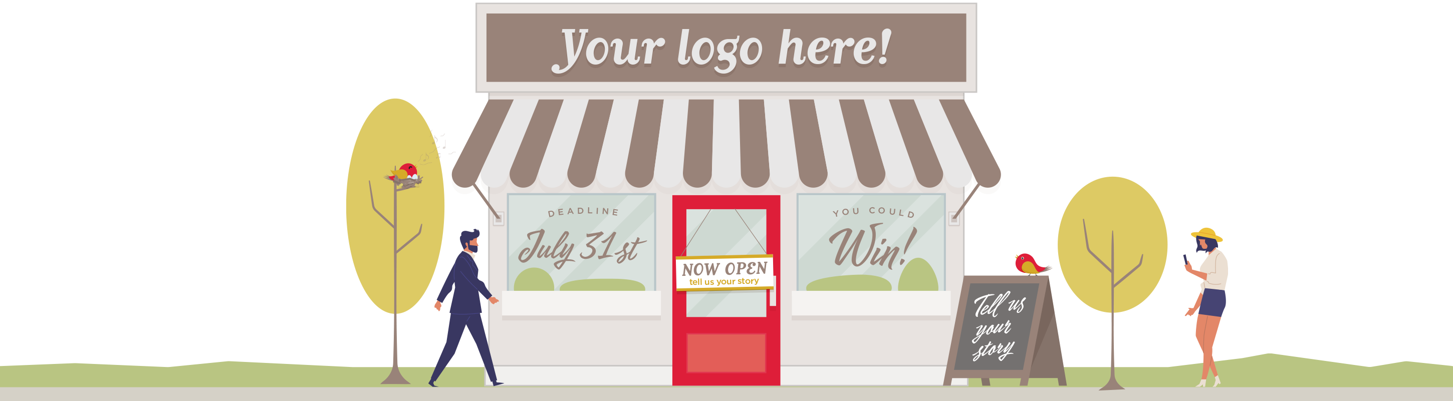 Enter now for a chance to win a free logo for your business